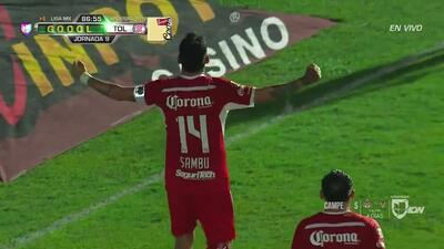 ¡GOOOL! Rubens Sambueza anota para Toluca