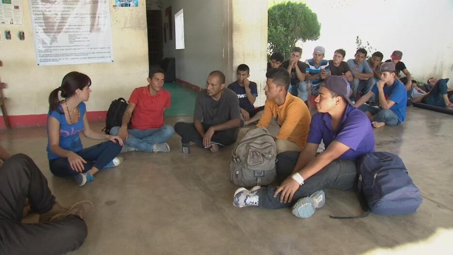 """Lo conocimos en la """"Casa del Migrante"""" de Arriaga, Estado de Chiapas, Mé..."""