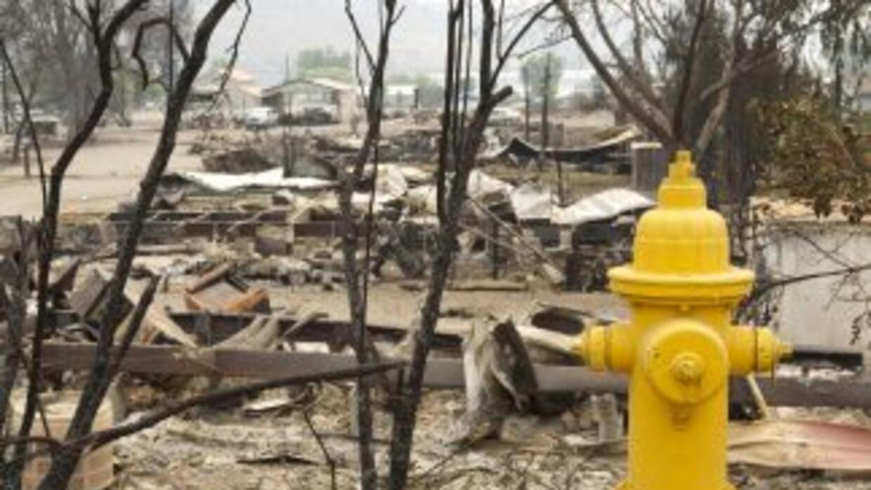 Imágenes de la ola de incendios en Washington.