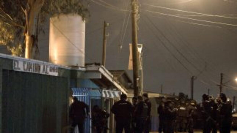 Policías estatales de Tijuana, en Baja California (al norte de México),...