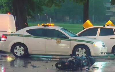 Un motociclista resultó herido tras un accidente contra un vehículo en M...