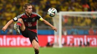 Phillip Lahm es el capitán de los alemanes.