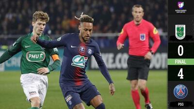 El PSG tarda en carburar, pero termina apabullando al GSI Pontivy en la Copa de Francia