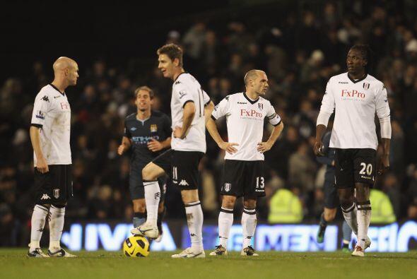 El Fulham descontó con un tanto marcado por Gera, lo cual fue insuficiente.