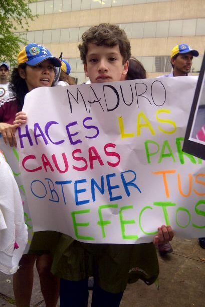 Esta semana fue de protesta para los venezolanos en todo el mundo, quien...