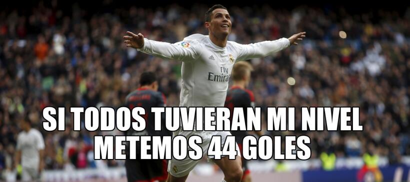No faltó el humor tras el póker de Ronaldo en la paliza de...