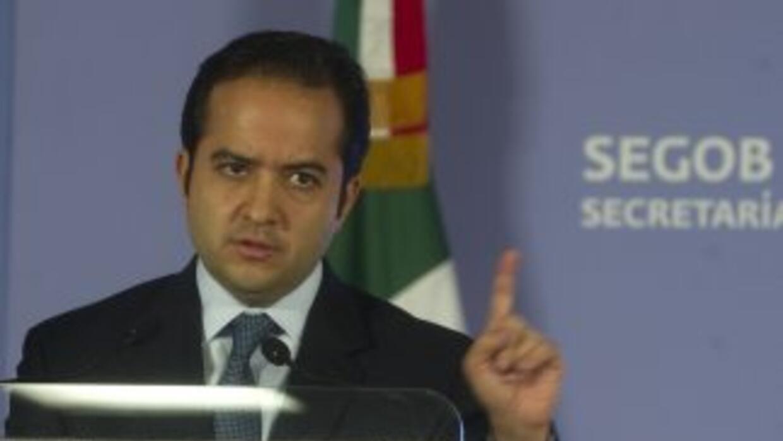 El secretario de Gobernación (ministro de Interior mexicano), Alejandro...