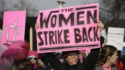 """""""Las mujeres contraatacan"""". Uno de los mensajes de la Marcha d..."""