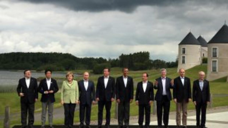 Los líderes de los ocho países más ricos e industrializados del mundo su...
