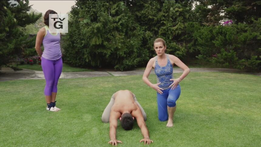 Yoga con Luz postura + nutrición