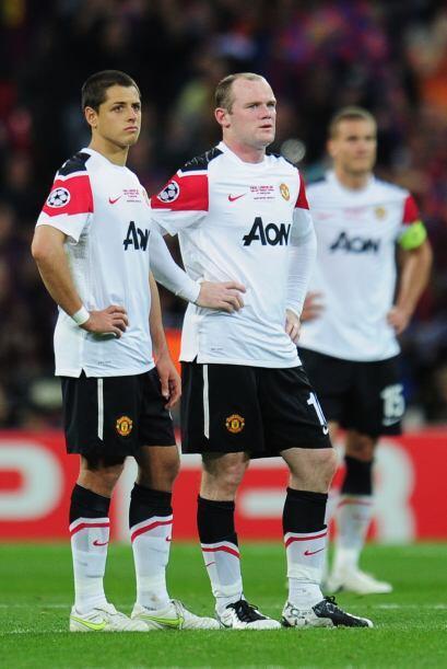 La dupla 'Chicharito'-Rooney no tuvieron chances. El 'Man-U' jugó un mal...