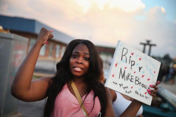 La muerte de Michael Brown, un chico afroamericano de 18 años, a manos d...