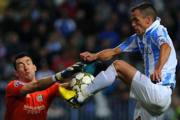 El Málaga, que ya había asegurado la punta de su grupo, quería llegar a...