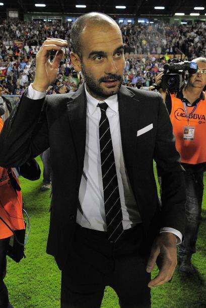 También buscaban la reacción de Josep Guardiola, el técnico de los 'blau...