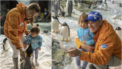 Michelle Tacher disfrutó de una aventura helada entre pingüinos (fotos)