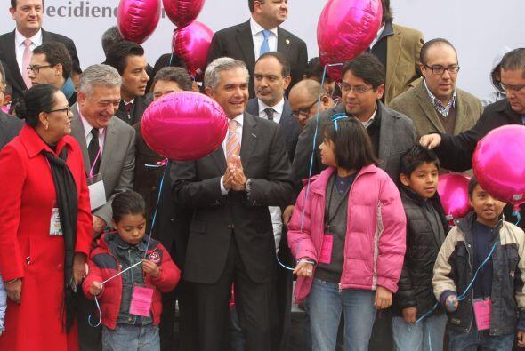 En el evento participaron decenas de niños y niñas, que disfrutaban de s...