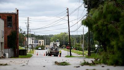 La restauración del servicio de energía eléctrica en Carolina del Norte podría tardar semanas