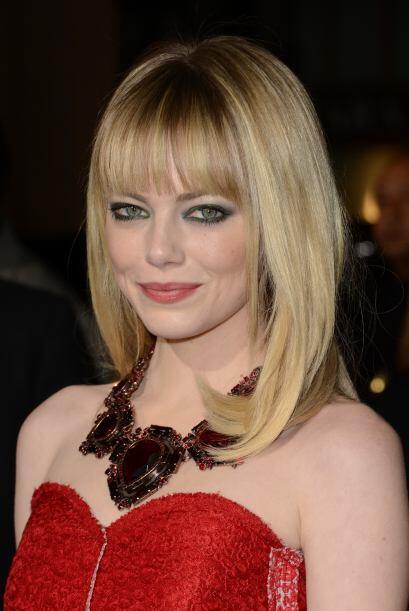 La guapa Emma Stone goza de popularidad por sus roles protagónicos en pe...