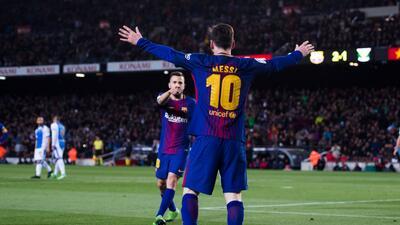 En fotos: el décimo aniversario de Lionel Messi usando el '10' del Barcelona