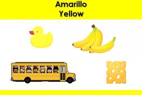 El color amarillo. ¿Qué otras cosas son amarillas?