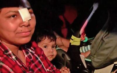 Juana Hoy y su pequeño hijo, Jesús Ludena, se reencontraro...