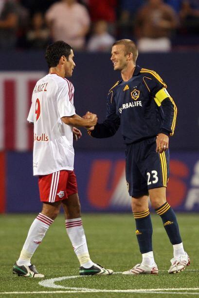 18 de agosto, 2007: Primer duelo de la estrella internacional David Beck...