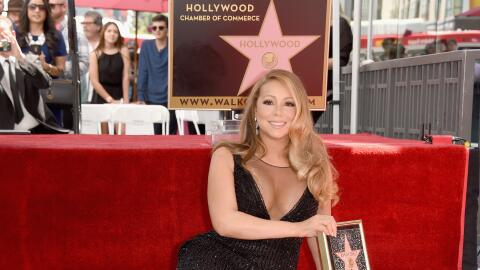 HOLLYWOOD, CA - AUGUST 05: Singer Mariah Carey is honored with Star on T...