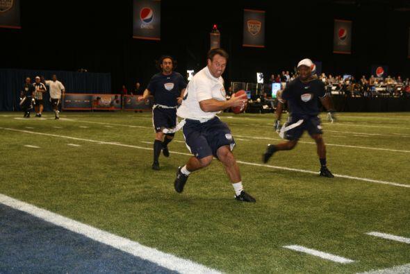 Visión única del touchdown de Mike Alstott.