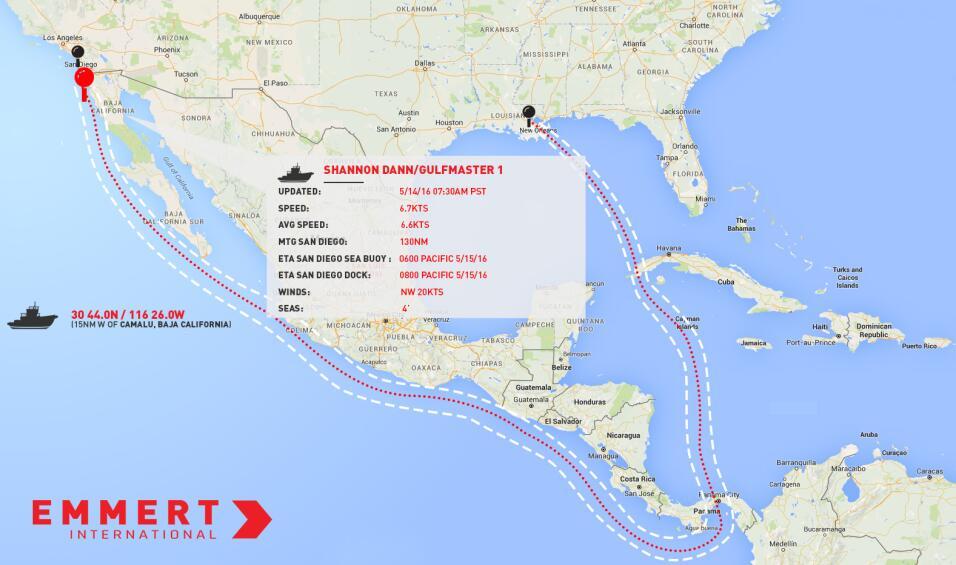 El 12 de abril la embarcación con el ET-94 salió desde Nue...