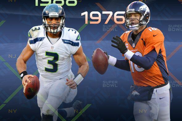 9. Diferencia de edades: Peyton Manning (nacido el 24 de marzo de 1976)...