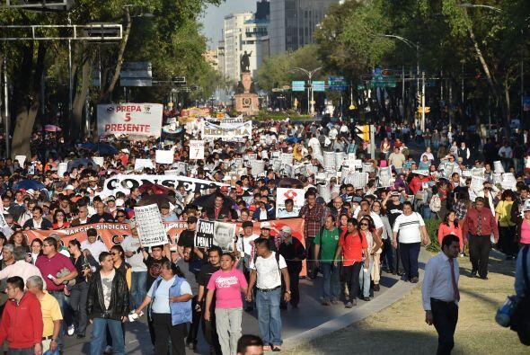 En la marcha participaron en su mayoría jóvenes de la Universidad Nacion...