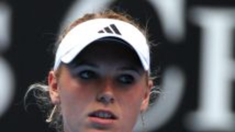Caroline Wozniacki, número uno del mundo, venció a la argentina Gisela D...