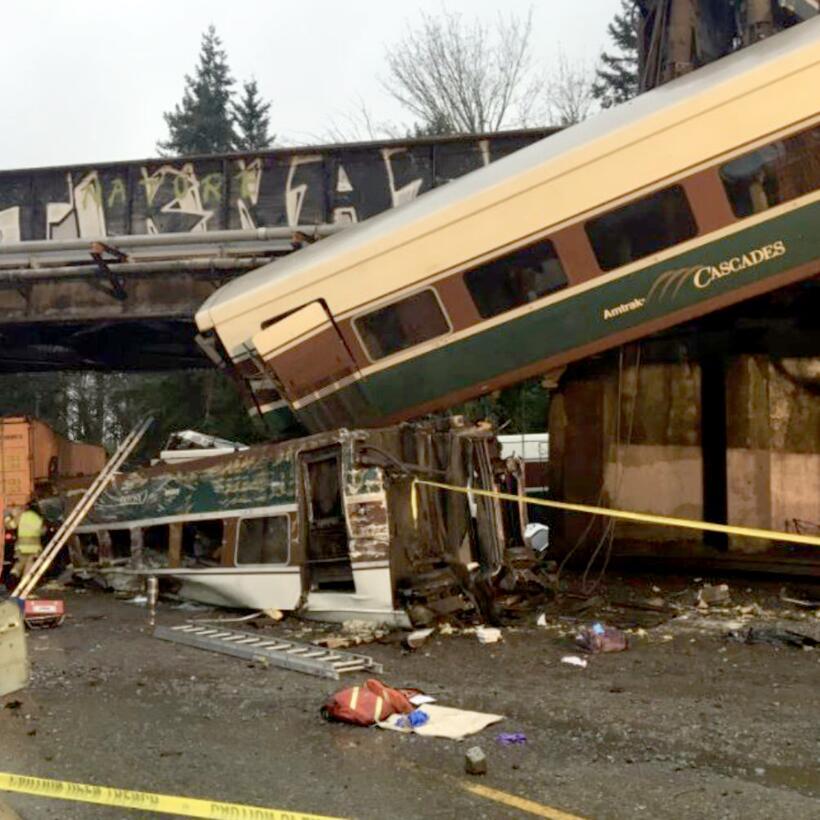 El tren accidentado es el 501, que recorre normalmente la ruta Seattle-P...