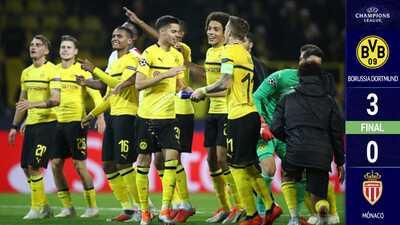 El Dortmund pasa la aplanadora y golea 3-0 al Mónaco