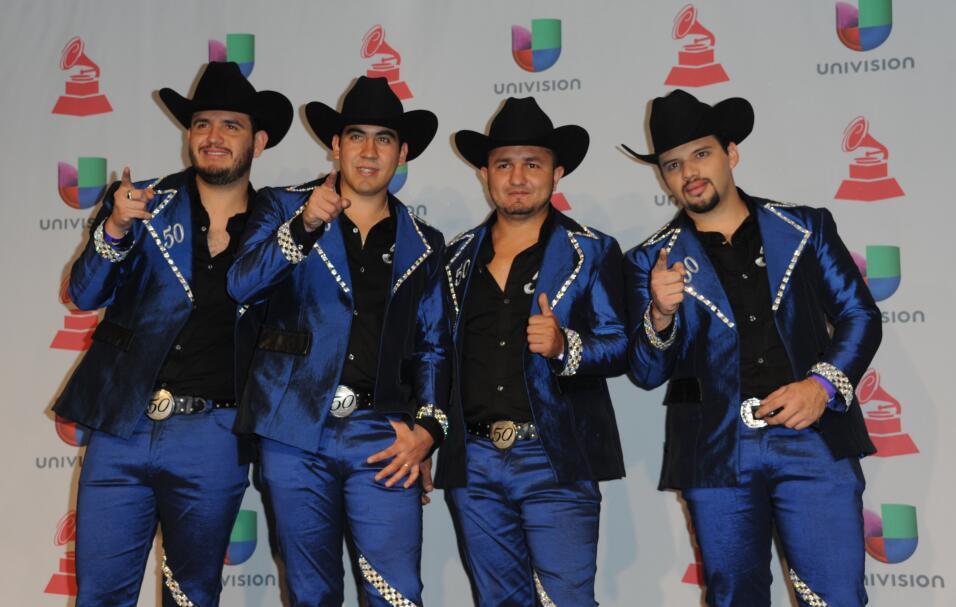 La agrupación Calibre 50 en los Latin Grammy 2015