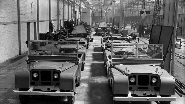 Línea de montaje de la Land Rover Serie I