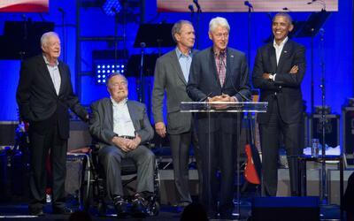 Imágenes del concierto benéfico que reunió a los cinco expresidentes viv...