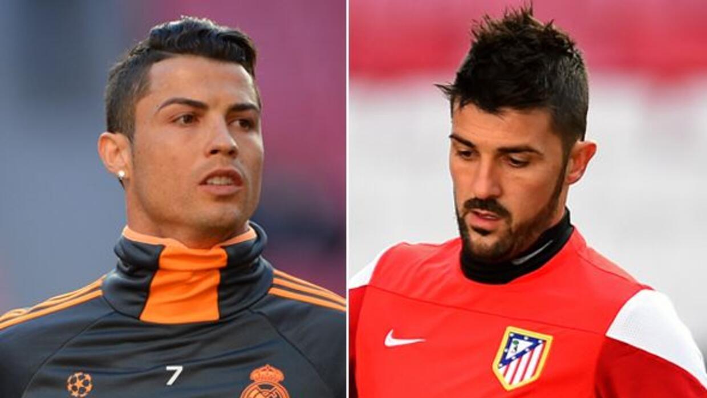 Cristiano Ronaldo y David Villa encabezarán el duelo del derbi en Champi...