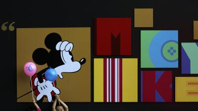 El ratón Mickey en una exhibición en China.