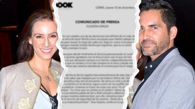 Claudia Lizaldi anuncia su divorcio después de nueve años de matrimonio
