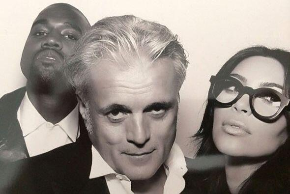 "Kim y Kanye, muy ""hipsters"" con el diseñador Giuseppe Zanotti."