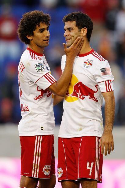 Rafael Márquez no estaba muy contento con el resultado del encuentro.