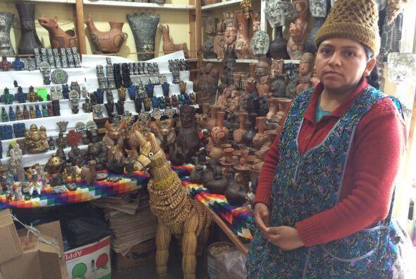 Nelly, dueña de la Casa Esotérica Pachamama, dice que ha sido una alegrí...