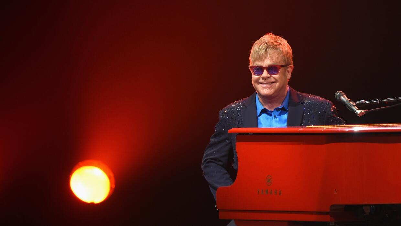 LOS ANGELES, CA - JANUARY 13: Elton John performed songs from his new al...