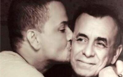 Victor Manuelle con su papá Víctor Manuel Ruíz