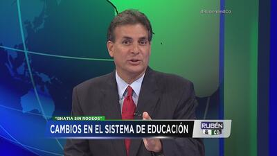 Eduardo Bhatia apuesta a su reforma educativa