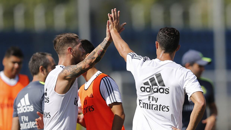 Sergio Ramos y Cristiano Ronaldo reaparecieron en Valdebebas.