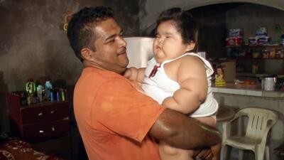 Luis González Pantoja tiene menos de 1 año de edad y pesa más de 66 libras.