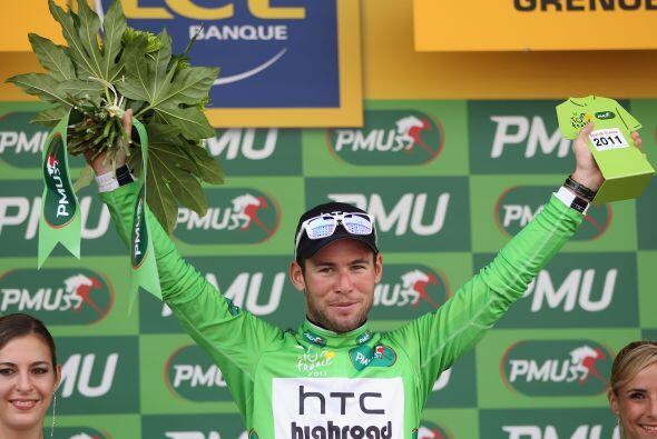 Mark Cavendish retuvo el maillot verde en la penúltima etapa del Tour.