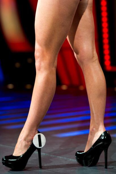 Estas piernas son de Mónica de la Cruz.
